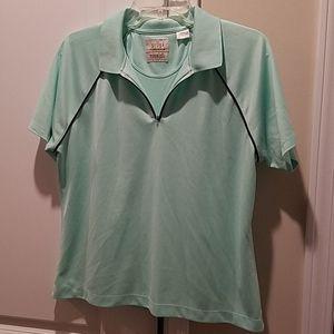 EP Pro green golf shirt